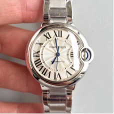 Replica Ballon Bleu De Cartier 33MM W6920071 Stainless Steel Silver Dial