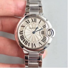 Replica Ballon Bleu De Cartier 33MM W6920084 Stainless Steel Silver Dial Quartz