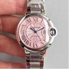 Replica Ballon Bleu De Cartier 33MM W6920100 Stainless Steel Pink Dial