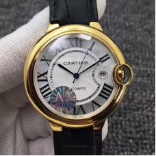 Replica Ballon Bleu De Cartier 42MM W6900551 Yellow Gold Silver Dial