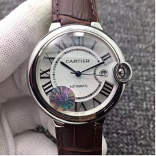Replica Ballon Bleu De Cartier 42MM W6901351 Stainless Steel Silver Dial