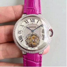Ballon Bleu De Cartier Flying Tourbillon HPI00716 39MM Acier inoxydable & Diamants Dial