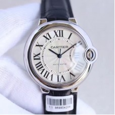 Replica Ballon Bleu De Cartier Ladies 36MM W6900556 Stainless Steel Silver Dial