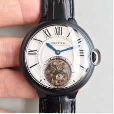 Replica Ballon Bleu De Calibre de Cartier Tourbillon 2018 42MM PVD White Dial Tourbillon