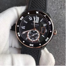 Replica Calibre De Cartier Diver W2CA0004 42MM Ceramic Black Dial