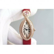 Replica Cartier Baignoire Rose Gold White Dial Quartz