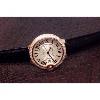 Cartier Ballon Bleu 36MM Or rose Cadran blanc