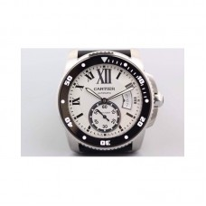 Replica Cartier Diver Stainless Steel White Dial
