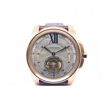 Calibre de Cartier Tourbillon Or rose Cadran gris Tourbillon