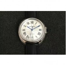 Replica Cartier Cle 40MM Stainless Steel White Dial