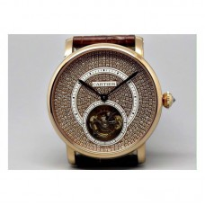 Replica Cartier Ronde Louis Tourbillon Rose Gold Diamonds Dial Tourbillon