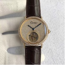 Replica Cartier Rotonde Tourbillon Yellow Gold & Diamonds Diamond Dial Tourbillon