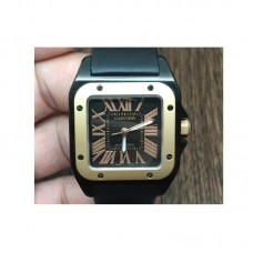 Replica Cartier Santos 100 33MM PVD Black Dial
