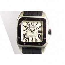 Replica Cartier Santos 100 Midsize Stainless Steel White Dial