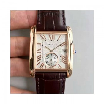 Cartier Tank WGTA0014 Or rose Cadran blanc