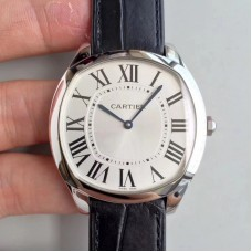 Replica Drive de Cartier Extra-Flat WGNM0007 Stainless Steel Silver Dial