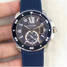 Replica Calibre De Cartier Diver WSCA0011 42MM Stainless Steel Blue Dial