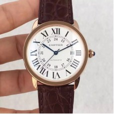 Replica Ronde Solo De Cartier W6701010 42MM Rose Gold White Dial