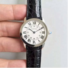 Replica Ronde Solo De Cartier Ladies W6700155 29MM Stainless Steel White Dial Quartz