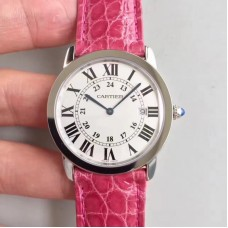 Replica Ronde Solo De Cartier Ladies W6700255 36MM Stainless Steel White Dial Quartz