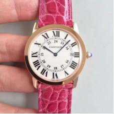 Replica Ronde Solo De Cartier Ladies W6701008 36MM Rose Gold White Dial Quartz