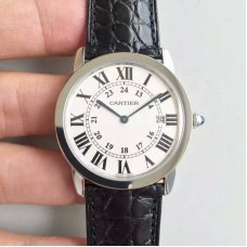 Replica Ronde Solo De Cartier W6700255 36MM Stainless Steel White Dial Quartz