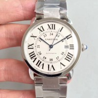 Ronde Solo De Cartier W6701011 42MM Acier inoxydable Cadran blanc