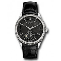 Réplique montre Rolex Cellini Dual Time Or Blanc 50529 BKBK