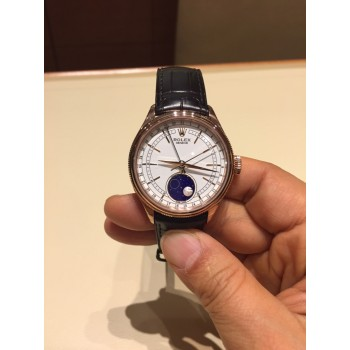 Réplique Montre Rolex Cellini Moonphase 39 mm Or Everose 18 ct