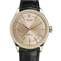Réplique Montre Rolex Cellini Time Everose Gold 50705RBR