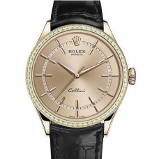 Rolex Cellini Time Everose Gold 50705RBR Replica Watch
