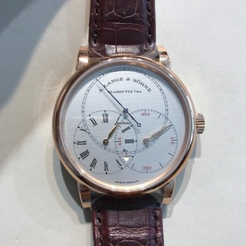 Réplique A. Lange & Sohne Richard Lange Jumping Seconds Or Rose / Argent 252.032