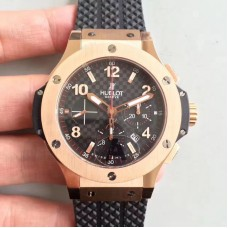 Réplique Hublot Big Bang 301PC1007RX cadran en fibre de carbone en or rose