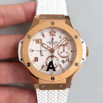 Réplique Hublot Big Bang 301.PE.230.RW cadran blanc en or rose