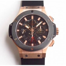 Réplique Hublot Big Bang Aero Bang or 311.PX.1180.GR cadran squelette noir en or rose