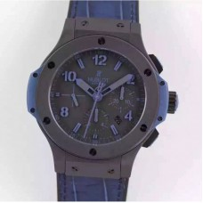 Replica Hublot Big Bang All Black Blue 301.CI.1190.GR.ABB09 Ceramic Black Dial