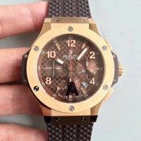 Réplique Hublot Big Bang Cappuccino 301PC1007RX Cadran en fibre de carbone brun or rose