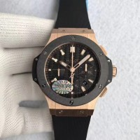 Réplique Hublot Big Bang Chronograph 301.PM.1780.RX Cadran en fibre de carbone en or rose