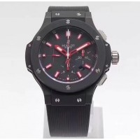 Réplique Hublot Big Bang Evolution Red Magic 301.CI.1123.GR cadran noir en céramique