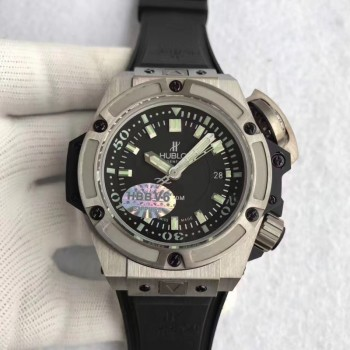 Réplique Hublot Big Bang King Power Musee Oceanographique Monaco 731.NX.1190.RX Titanium Black Dial