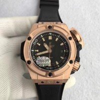 Réplique Hublot Big Bang King Power Musee Oceanographique Monaco 731.OX.1170.RX Cadran Noir Or Rose