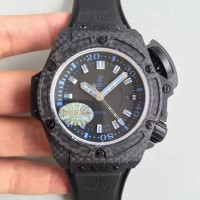 Réplique Hublot Big Bang King Power Musee Oceanographique Monaco 731.QX.1140.RX cadran noir en fibre de carbone