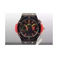 Réplique Hublot Big Bang Red Devil Manchester PVD cadran noir