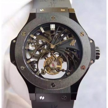 Réplique Hublot Big Bang Skeleton Tourbillon Ceramic Skeleton Dial