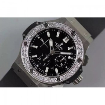 Réplique Hublot Big Bang lunette en acier inoxydable diamants