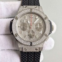 Réplique Hublot Big Bang Steel Full Pave 341.SX.9010.RX.1704 Acier inoxydable Diamants Diamond Dial