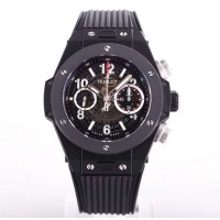 Réplique Hublot Big Bang Unico Black Magic 411.CI.1170.RX cadran squelette en céramique