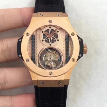 Réplique Hublot Big Bang Vendome Tourbillon 305.PX.0009.GR BM Or Rose Cadran Or Rose