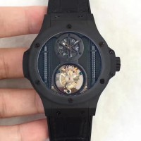 Réplique Hublot Big Bang Vendome Tourbillon All Black 305.CI.0009.GR BM cadran noir en céramique