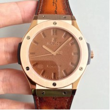 Replica Hublot Classic Fusion Berluti Scritto Limited Edition 511.OX.0500.VR.BER16 Rose Gold Brown Leather Dial